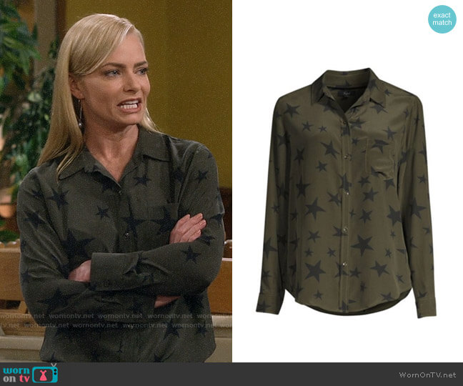 Rails Kate Star Button Down worn by Jill Kendall (Jaime Pressly) on Mom
