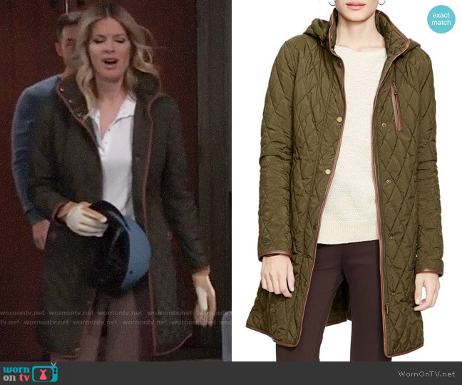 LAUREN Ralph Lauren Quilted Jacket worn by Nina Reeves (Michelle Stafford) on General Hospital