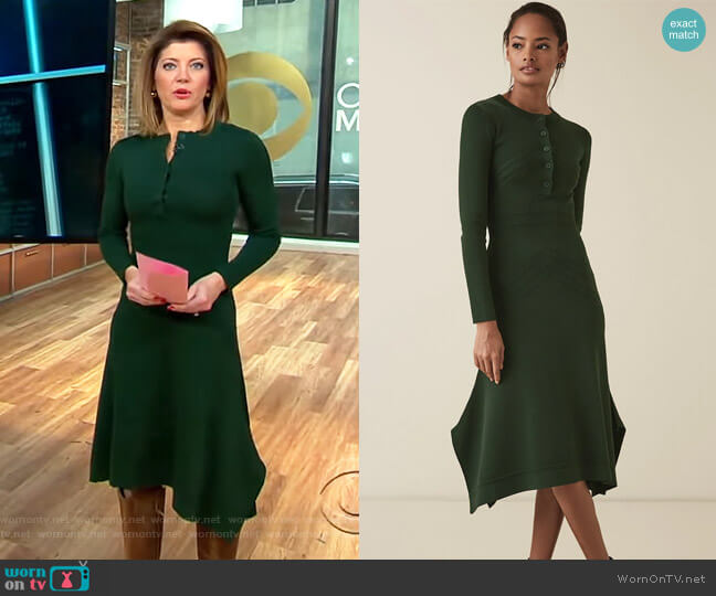 Sole Dress by Reiss worn by Norah O'Donnell (Norah O'Donnell) on CBS This Morning