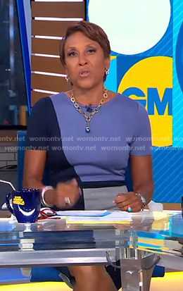 Robin's colorblock sheath dress on Good Morning America