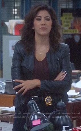 Rosa's black leather jacket on Brooklyn Nine-Nine