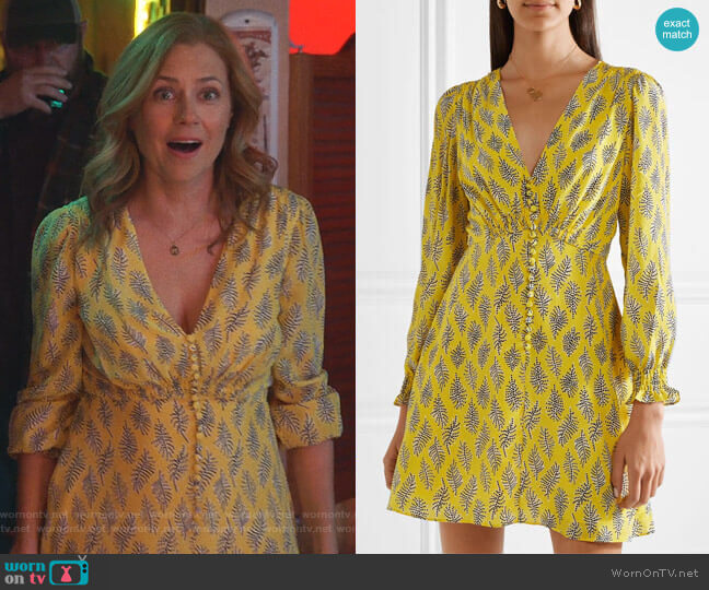 Eve Dress by Saloni worn by Lena (Jenna Fischer) on Splitting Up Together