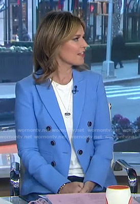Savannah's blue blazer on Today