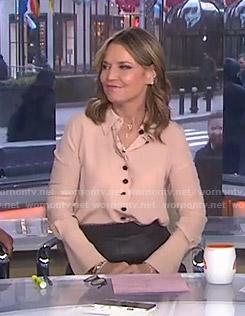 Savannah's pink scalloped blouse on Today