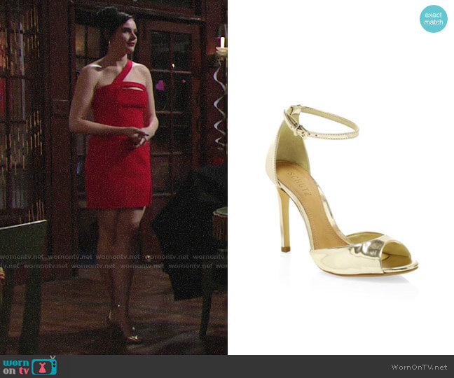 Schutz Saasha Lee Heels worn by Tessa Porter (Cait Fairbanks) on The Young & the Restless