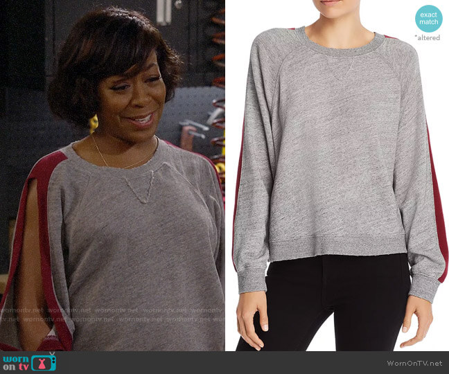 Splendid Color Block Stripe Sweatshirt worn by Tina (Tichina Arnold) on The Neighborhood