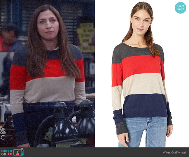 Splendid Colorblock Sweater worn by Gina Linetti (Chelsea Peretti) on Brooklyn Nine-Nine