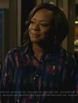 Annalise's floral print blouse on How to Get Away with Murder