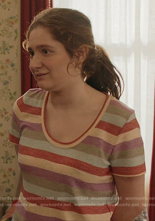 Debbie's striped tee on Shameless