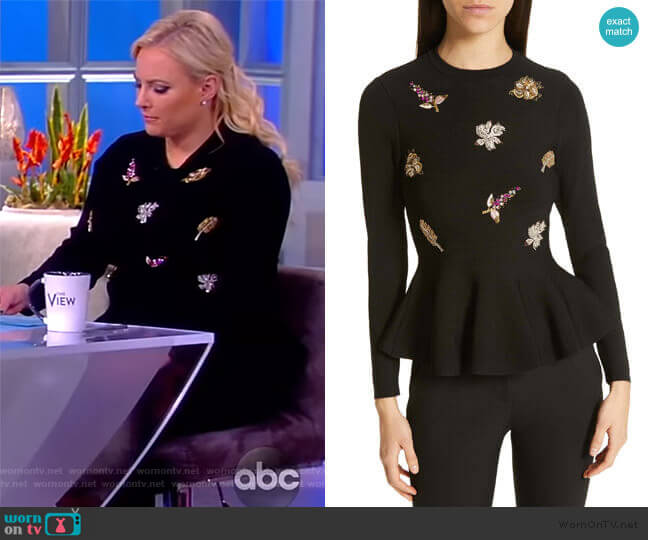 Tynna Embellished Sweater by Ted Baker worn by Meghan McCain  on The View