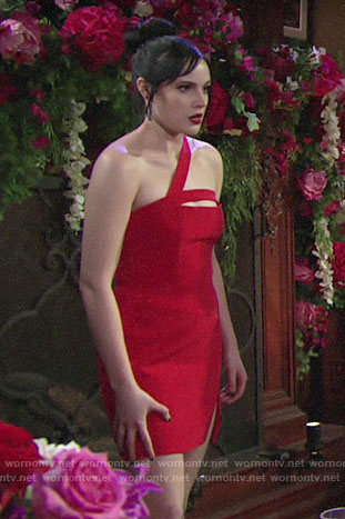 Tessa's red Valentines Day dress on The Young and the Restless
