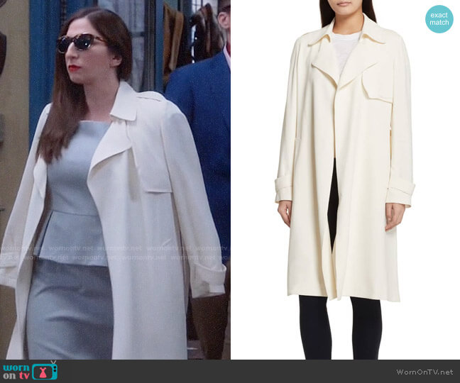 Theory Oaklane Trench worn by Gina Linetti (Chelsea Peretti) on Brooklyn Nine-Nine