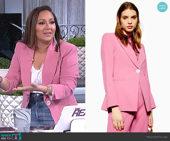 Slim Single Breasted Jacket by Topshop worn by Adrienne Houghton  on The Real