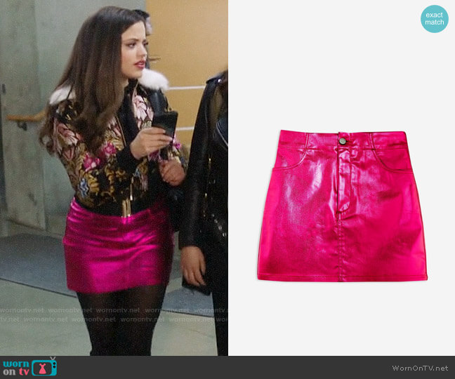 Topshop Metallic Skirt worn by Maggie Vera (Sarah Jeffery) on Charmed