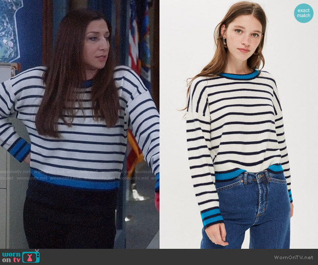 Topshop Stripe Jumper worn by Gina Linetti (Chelsea Peretti) on Brooklyn Nine-Nine