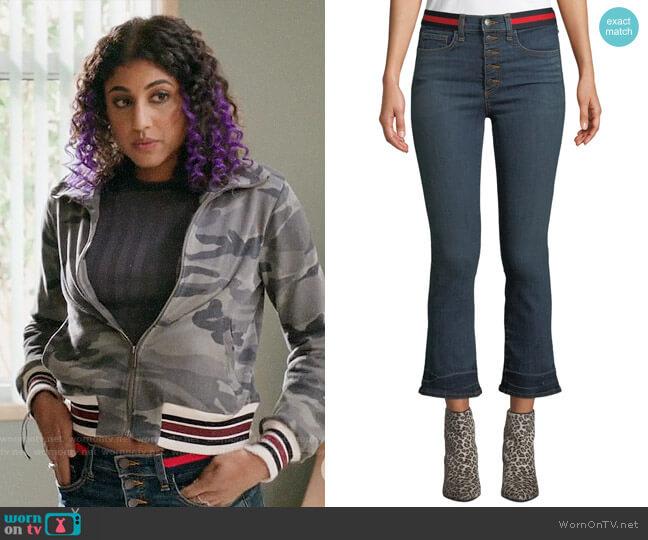 Veronica Beard Carolyn Jeans worn by Heather Davis (Vella Lovell) on Crazy Ex-Girlfriend