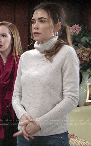Victoria's speckled turtleneck sweater on The Young and the Restless
