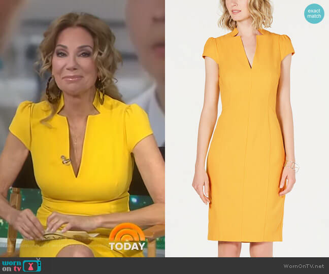 V-Neck Bodycon Dress by Vince Camuto worn by Kathie Lee Gifford  on Today
