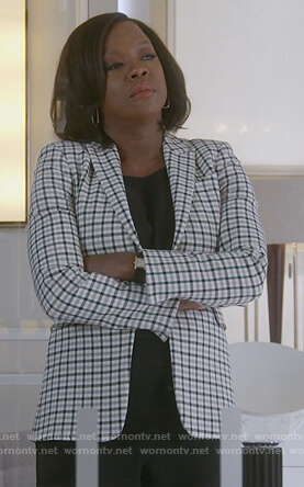Annalise's white checked blazer on How to Get Away with Murder