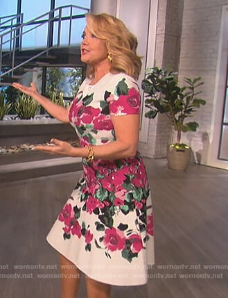 Melody Thomas Scott's white floral dress on The Talk