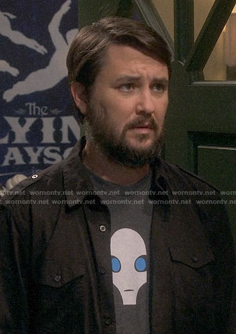 Wil Wheaton's Swangee / Alien t-shirt on The Big Bang Theory