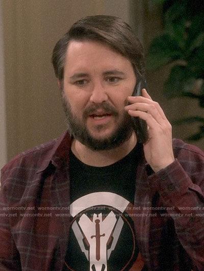 Wil Wheaton's Blackwatch t-shirt on The Big Bang Theory