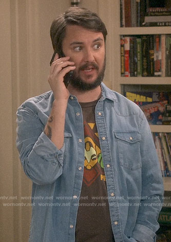 Wil Wheaton's Overwatch t-shirt on The Big Bang Theory