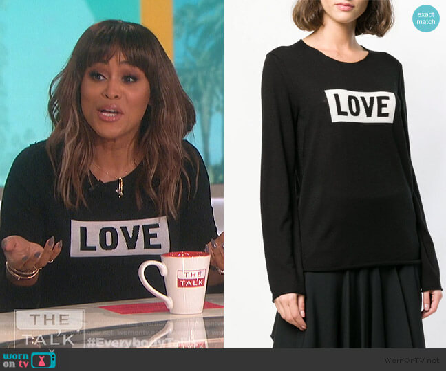 Gwendal Love Sweater by Zadig & Voltaire worn by Eve  on The Talk