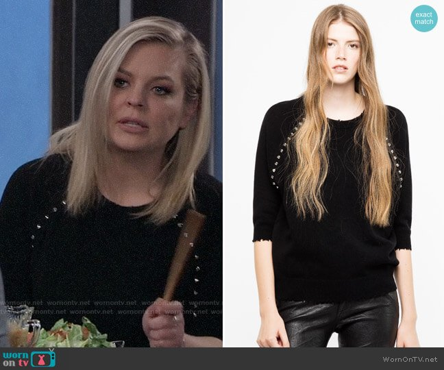 Zadig & Voltaire Just Mwc Sweater worn by Maxie Jones (Kirsten Storms) on General Hospital
