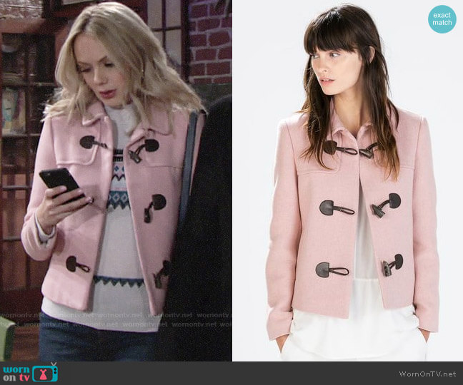 Zara Blazer with Toggles worn by Abby Newman (Melissa Ordway) on The Young & the Restless