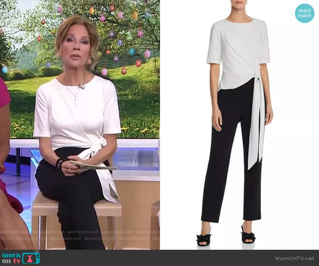 Color-Blocked Knit Jumpsuit by Adrianna Papell worn by Kathie Lee Gifford  on Today