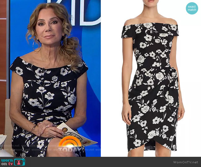 Off-the-Shoulder Dress by Adrianna Papell worn by Kathie Lee Gifford  on Today