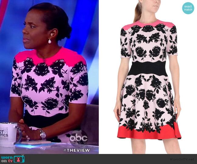 Short Dress by Alexander McQueen worn by Deborah Roberts on The View