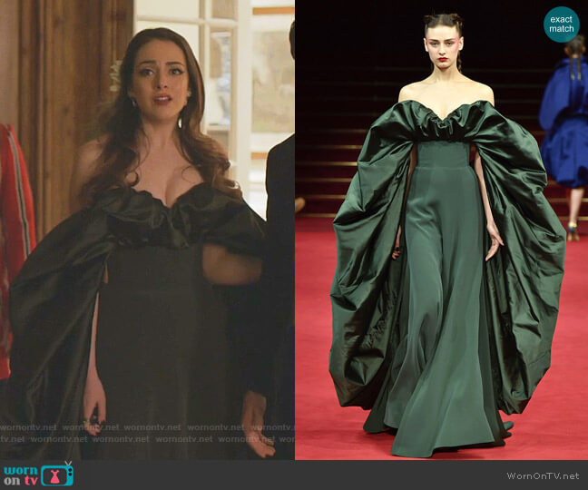 Spring 2018 Couture Collection by Alexis Mabille worn by Fallon Carrington (Elizabeth Gillies) on Dynasty