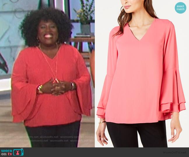 Bell Sleeve Blouse by Alfani worn by Sheryl Underwood  on The Talk
