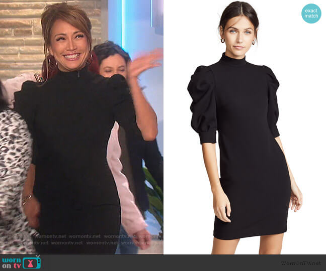 Brenna Puff Sleeve Dress by Alice + Olivia worn by Carrie Inaba  on The Talk