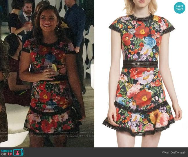 Alice + Olivia Rapunzel Dress worn by Jaya (Shazi Raja) on God Friended Me