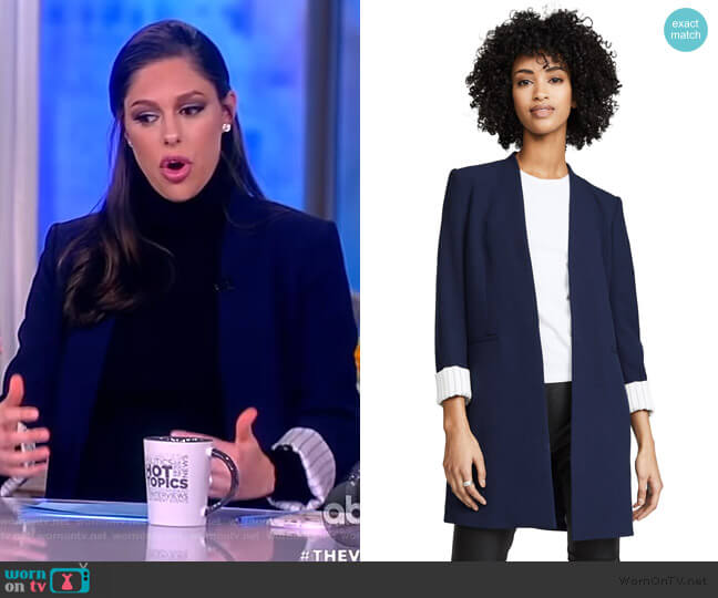 Simpson Roll Cuff Collarless Blazer by Alice + Olivia worn by Abby Huntsman (Abby Huntsman) on The View