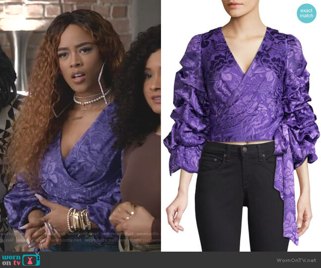 Dominica Top by Alice + Olivia worn by Tiana Brown (Serayah McNeill) on Empire