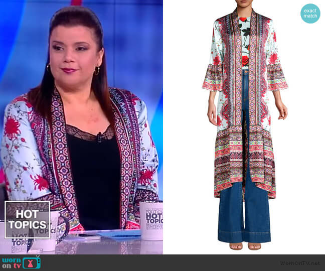 Dottie Reversible Long Kimono by Alice + Olivia worn by Ana Navarro (Ana Navarro) on The View