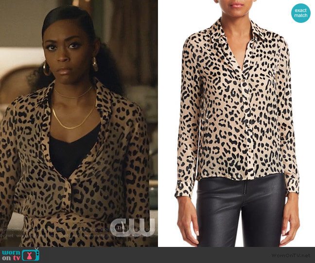 Eloise Blouse by Alice + Olivia worn by Anissa Pierce (Nafessa Williams) on Black Lightning