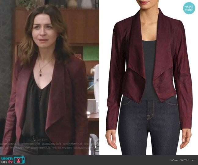 Harvey Jacket by Alice + Olivia worn by Amelia Shepherd (Caterina Scorsone) on Greys Anatomy
