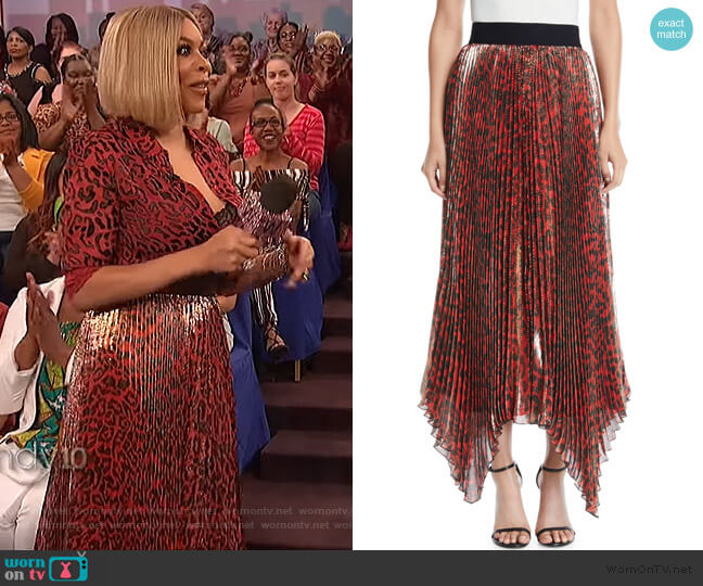 Katz skirt by Alice + Olivia worn by Wendy Williams  on The Wendy Williams Show