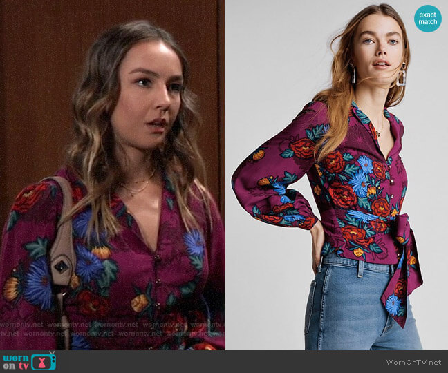 Anthropologie Moulinette Soeurs Maisie Blouse worn by Kristina Corinthos (Lexi Ainsworth) on General Hospital
