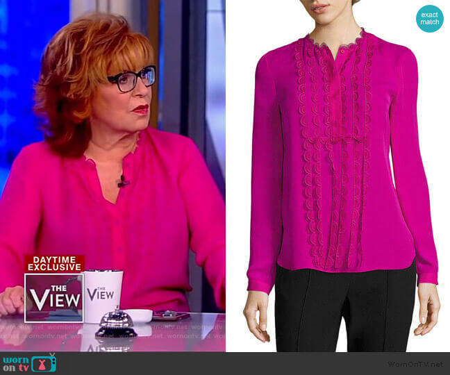 Antonella Blouse by Elie Tahari worn by Joy Behar  on The View