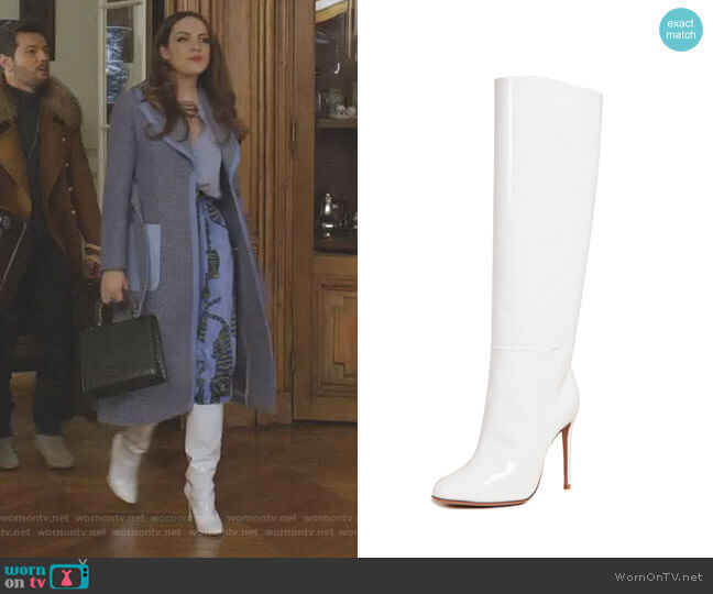 Brera 105 Boots by Aquazzura worn by Fallon Carrington (Elizabeth Gillies) on Dynasty