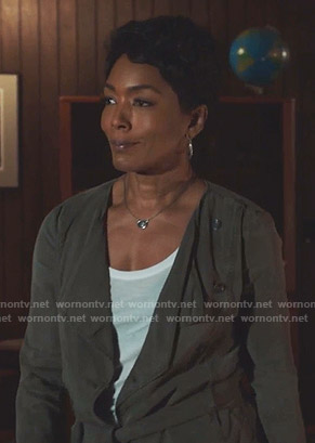 Athena's khaki double breasted jacket on 9-1-1