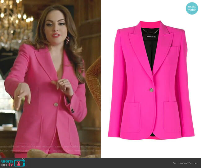 Tailored Blazer Jacket by Barbara Bui worn by Fallon Carrington (Elizabeth Gillies) on Dynasty