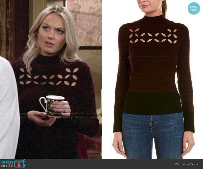 Bailey 44 Slalom Sweater worn by Abby Newman (Melissa Ordway) on The Young & the Restless