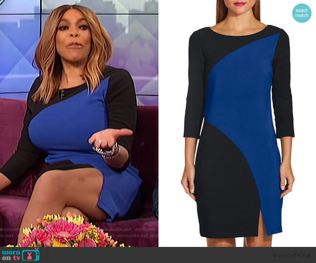 Beyond Travel Colorblock Curve Dress by Beyond Proper worn by Wendy Williams  on The Wendy Williams Show